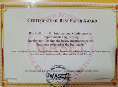 Outstanding/Best project Recoginzed by KSCST in the year 2019-20
