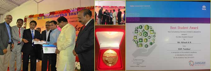 Mr. Nithesh K R from ISE department in recognition